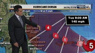 2 p.m. Hurricane Dorian Update - 9/1/19