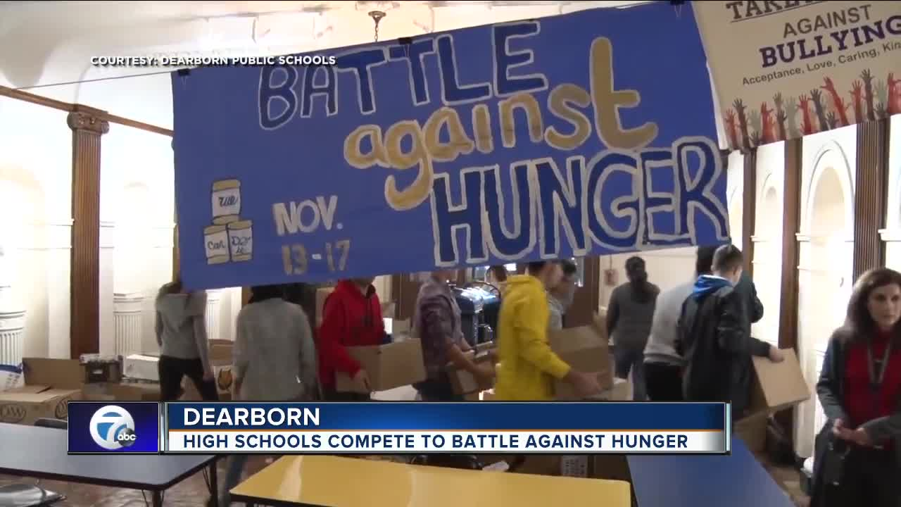 High schools compete to battle against hunger