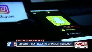 Social media threat leads to Drumright lockdown