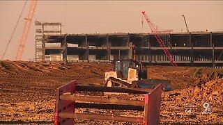 Burlington neighbors think blasts from Amazon hub construction are damaging their homes