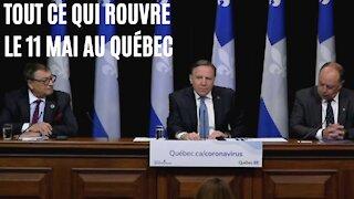 Voici précisément tout ce qui rouvre aujourd'hui au Québec