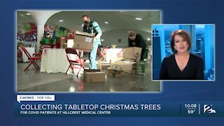 Hillcrest collecting tabletop Christmas trees for patients
