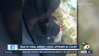 Man in viral police arrest video appears in court