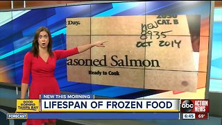 The lifespan of frozen food