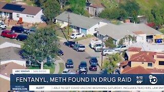 Fentanyl, meth found in Clairemont drug raid