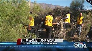 140 volunteers cleanup Rillito River at the Alvernon Bridge