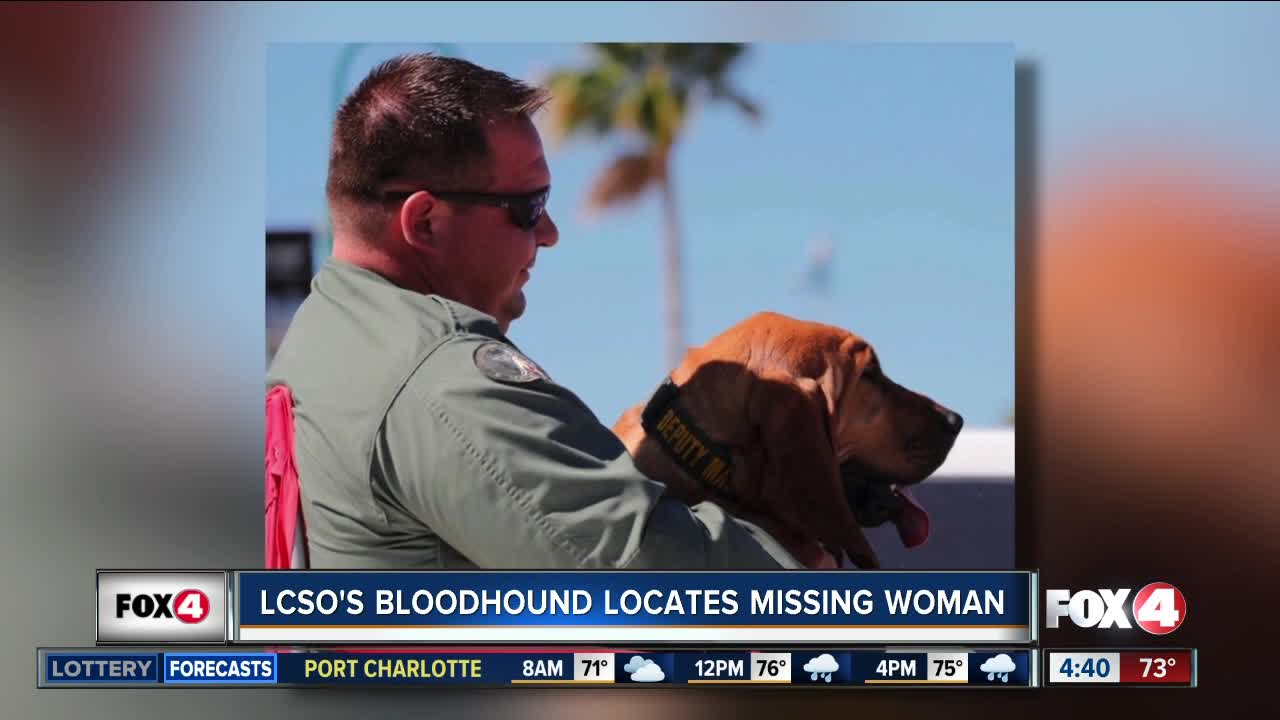 Lee County bloodhound locates missing woman