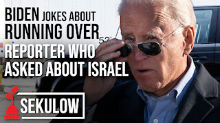 Biden Jokes About Running Over Reporter Who Asked About Israel