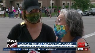 Locals protest George Floyd's death