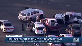 High speed chase comes to dramatic end in the Valley