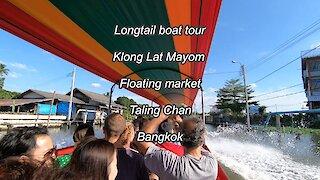Longtail Boat tour at Khlong Lat Mayom, Floating market in Bangkok