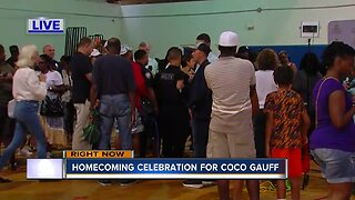 Homecoming celebration for Coco Gauff held in Delray Beach