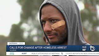 Calls for change after homeless man's arrest