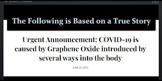 Urgent Announcement: COVID-19 is Caused By Graphene Oxide Introduced By Several Ways Into the Body