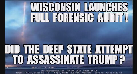 Wisconsin Launches Full Forensic Audit! GA & PA Next! Q: Did The [DS] Attempt To Assassinate Trump?