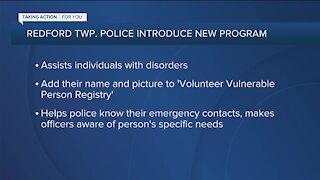 Voluntary Vulnerable Person Registry