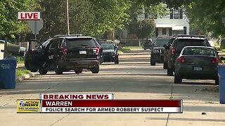 Police search for armed robbery suspect in Warren