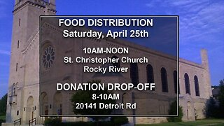 Drive-thru food distribution in Rocky River