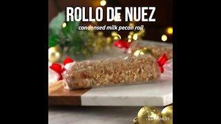 Condensed Milk Pecan Roll