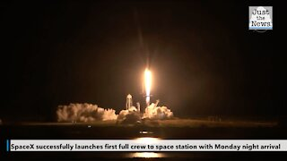SpaceX successfully launches first full crew to space station with Monday night arrival
