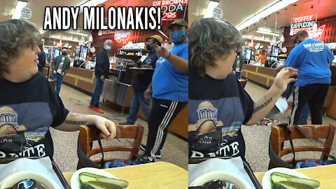 Andy Milonakis causes CHAOS in Diner!