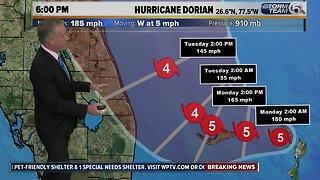 6p.m. Hurricane Dorian update