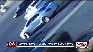 tulsa woman tracking stolen car