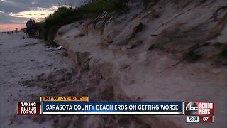 Beach erosion continues to plague Caspersen Beach
