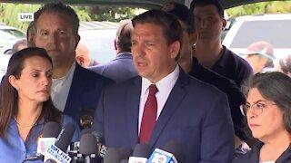 Florida Gov. Ron DeSantis gives update on Surfside condo collapse