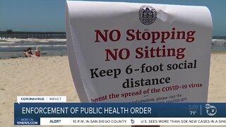 Enforcement of public health order
