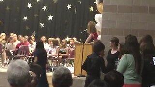 Stumbling Student Crashes Graduation