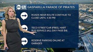 Gasparilla road closures, traffic