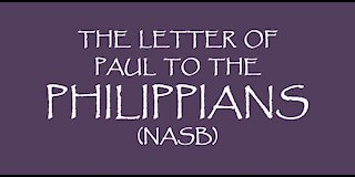 The Letter of Paul to the Philippians (NASB)