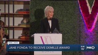 Fonda to receive Demille Award