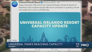 Universal hits park capacity