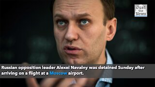 Putin opponent Alexei Navalny detained after arriving in Russia