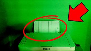 Poltergeist possesses printer during live stream