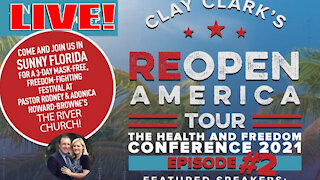 LIVE! Clay Clark's REOPEN AMERICA Conference - Tampa Bay, FL.