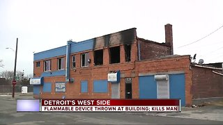 Flammable device thrown at building on Detroit's west side