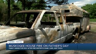 Muskogee House Fire on Father's Day