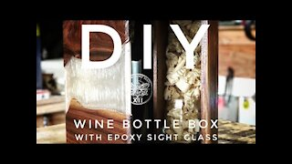 How to make a Wine Bottle Gift Box - WITH EPOXY!