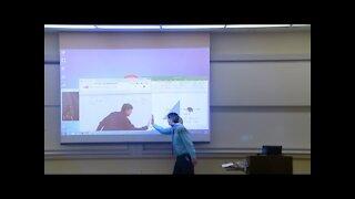 Prank Math Professor Projector Screen