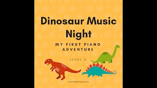 Piano Adventures Lesson Book A - Dinosaur Music Night