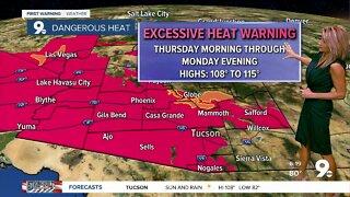 Dangerous heat and daily storm chances
