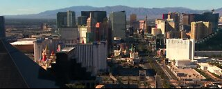 Las Vegas Strip nearly empty on Memorial Day