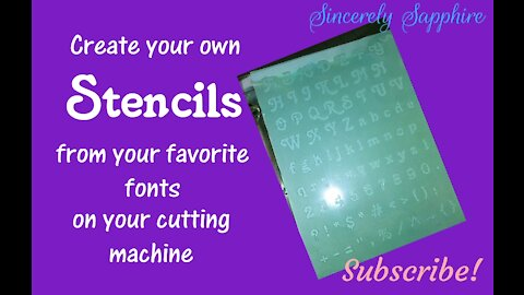 Create your own stencils from your favorite fonts DIY Build your own stash Silhouette