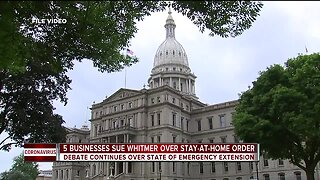 5 businesses sue Whitmer over stay-at-home order