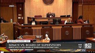 Senate vote to hold Board of Supervisors in contempt fails