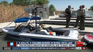Eight people injured from flash fire on boat in Buena Vista Lake
