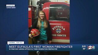 Eufuala welcomes first female firefighter